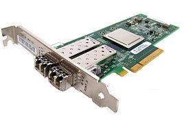Двухпортовая оптическая сетевая карта Qlogic 8Gbit Dual Port FC HBA, x8 PCIe, LC multi-mode optic, Retail