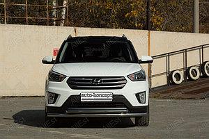 Hyundai Creta 2016- Защита передняя двойная D 60.3/42.4