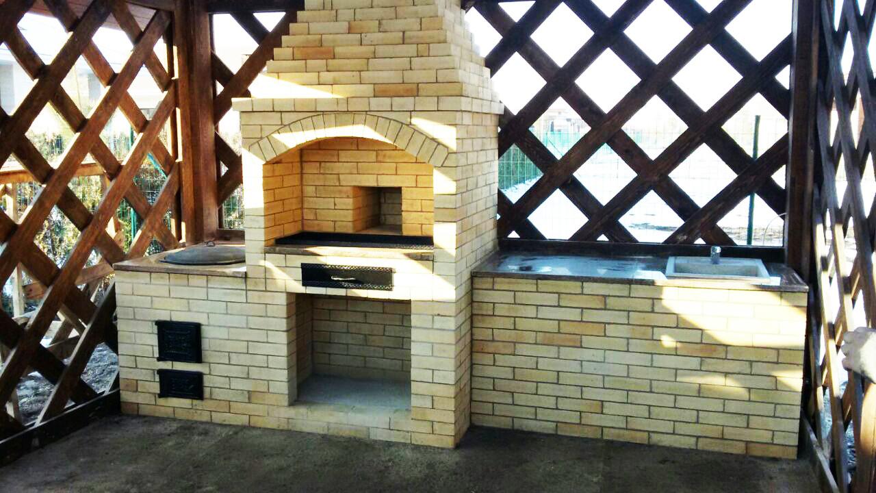 Строительство летних кухонь из кирпича