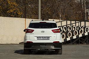 Hyundai Creta 2016- Защита задняя двойная D 60.3/42.4