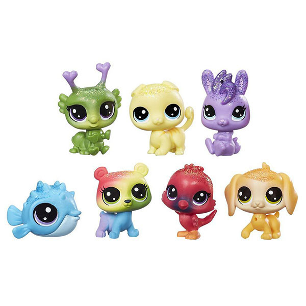 Hasbro Littlest Pet Shop C0795 Литлс Пет Шоп: Радужная колллекция - 7 радужных петов