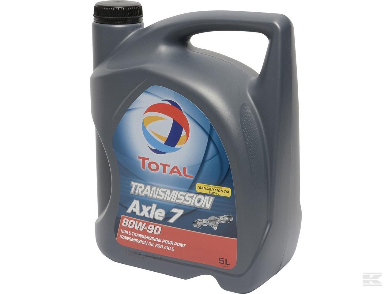 Трансмиссионное масло Total TRANSMISSION AXLE 7 80W90 5л. для Мостов, Раздаток, МКПП