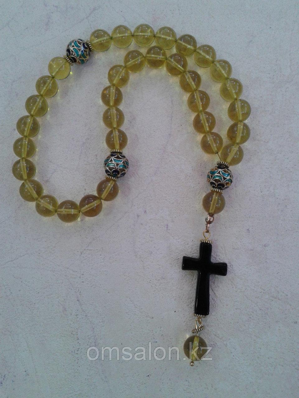 Чётки православные/католические из янтаря, 33  бусины