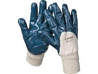 """Перчатки ЗУБР """"МАСТЕР"""" рабочие с манжетой, с нитриловым покрытием ладони, размер XL (10)"""