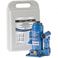 Домкрат гидравлический бутылочный, 3 т, h подъема 178–343 мм, в пласт. кейсе// Stels