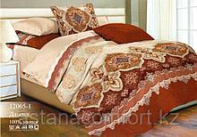 """Постельное белье """"Дамаск"""". 2-спальный Евро-размер. Бязь. Россия."""