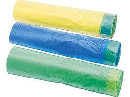 Пакеты для мусора с завязками синие Elfe 92715 (35л, 15шт)