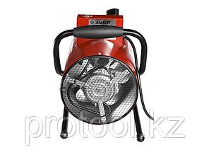 Пушка тепловая КОМПАКТ, ЗУБР ЗТП-М1-3000, круглая, электрическая, гладкий нерж ТЭН, двойные стенки (термос), фото 2