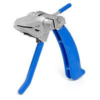 Инструмент для натижения и резки стальной ленты с храповым механизмом и переставной рукояткой