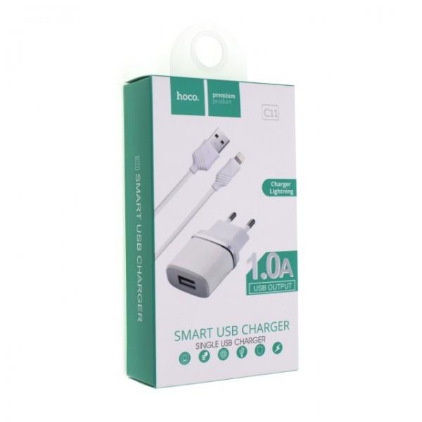 Зарядное устройство Hoco C11 1A Lightning USB