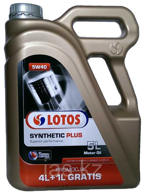 Моторное масло LOTOS SYNTHETIC TRAFFIC TURBODIESEL PLUS Thermal Control CF 5w40 4+1 литра