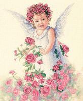 """Набор для вышивания крестом """"Ангел роз"""""""
