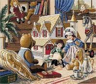 """Набор для вышивания крестом """"Кукольный домик"""""""
