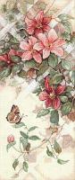 """Набор для вышивания крестом """"Цветы и бабочки"""""""