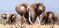 """Набор для вышивания крестом """"Африканские слоны"""""""