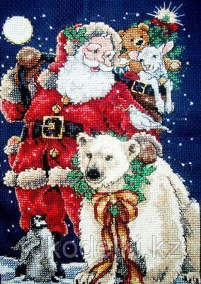 """Набор для вышивания крестом """"Санта с друзьями"""""""