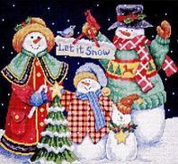 """Набор для вышивания крестом """"Пусть идет снег"""""""