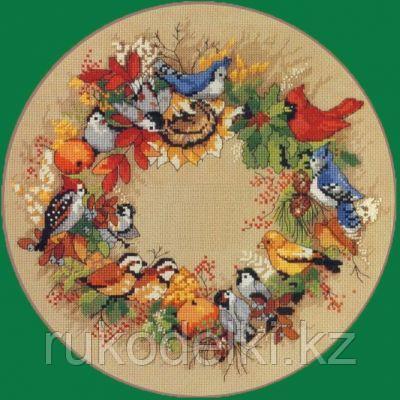 """Набор для вышивания крестом """"Осенний венок"""""""