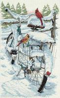 """Набор для вышивания крестом """"Зимние кардиналы"""""""