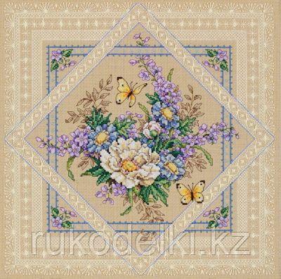 """Набор для вышивания крестом """"Ажурные цветы"""""""