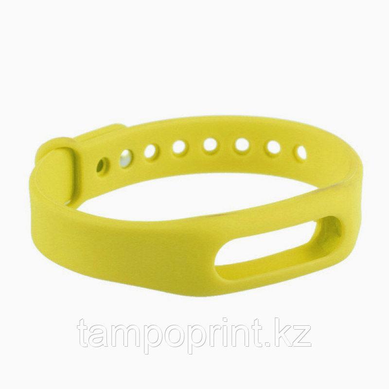 Ремешок силиконовый для фитнес-браслета Xiaomi Mi Band 1s Pulse желтый