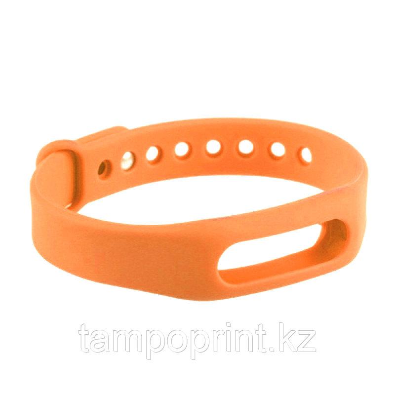Ремешок силиконовый для фитнес-браслета Xiaomi Mi Band 1s Pulse оранжевый