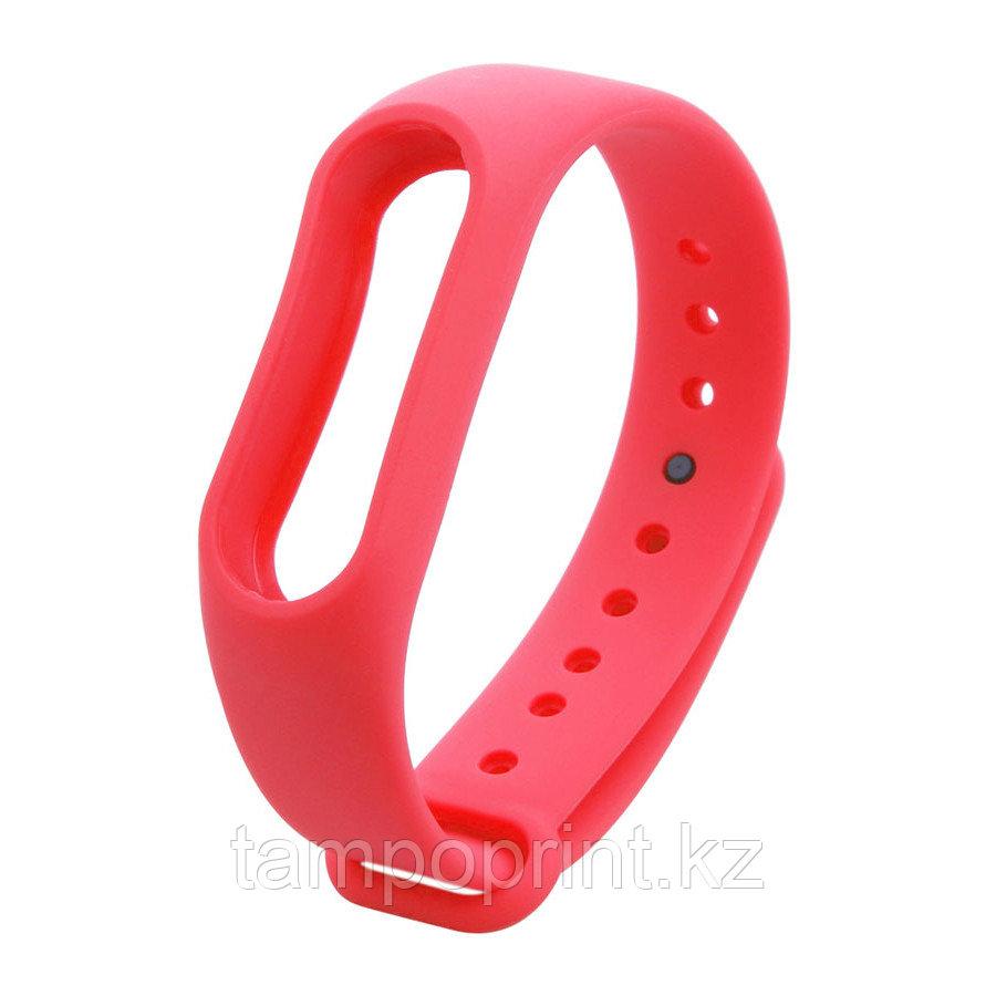 Ремешок силиконовый для фитнес-браслета Xiaomi MI Band 2 красный