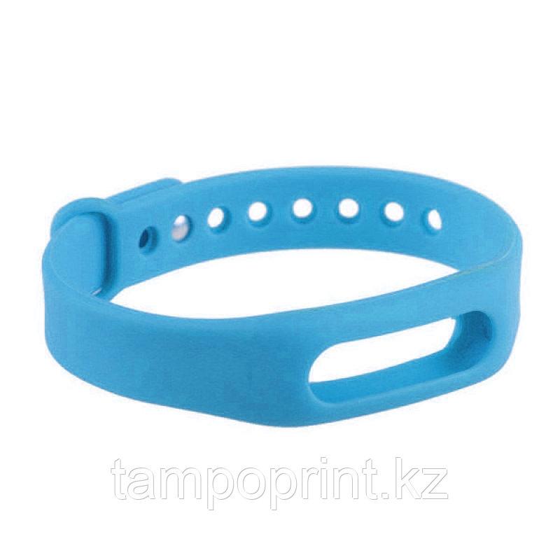 Ремешок силиконовый для фитнес-браслета Xiaomi Mi Band 1s Pulse голубой