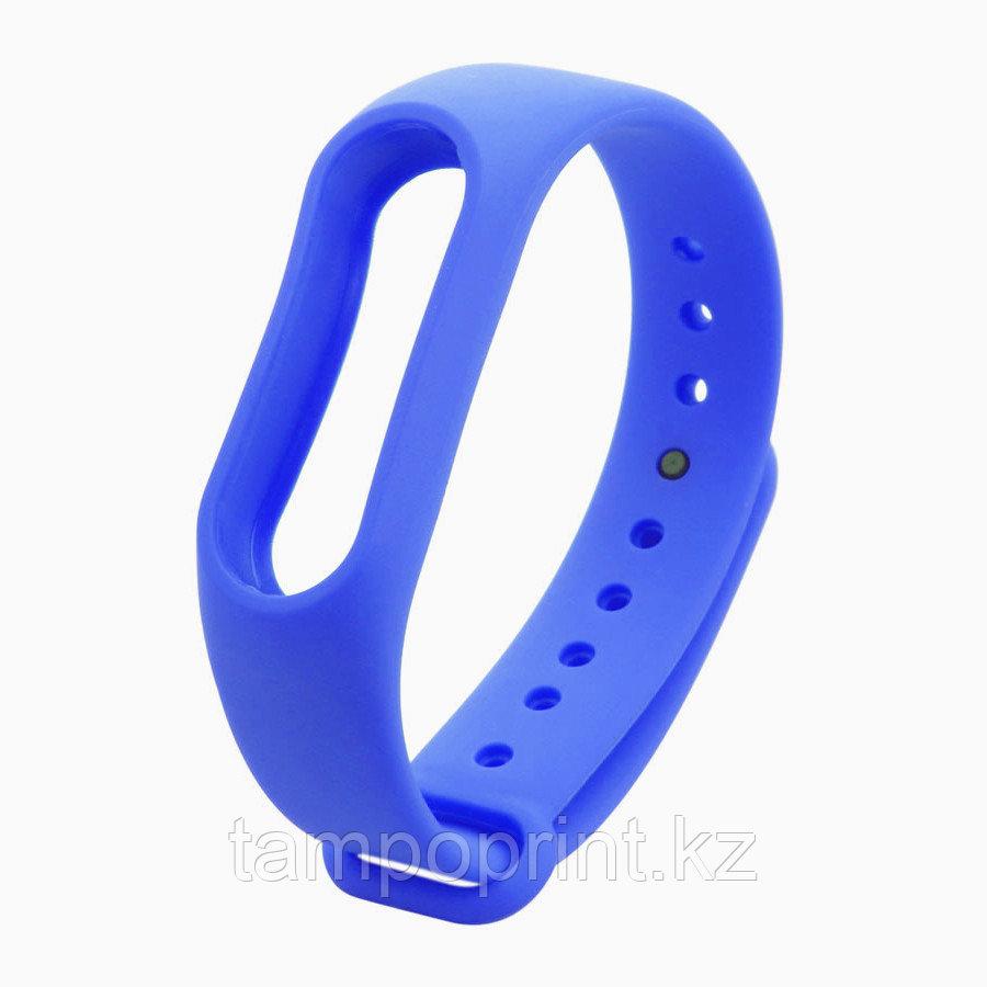Ремешок силиконовый для фитнес-браслета Xiaomi MI Band 2 синий