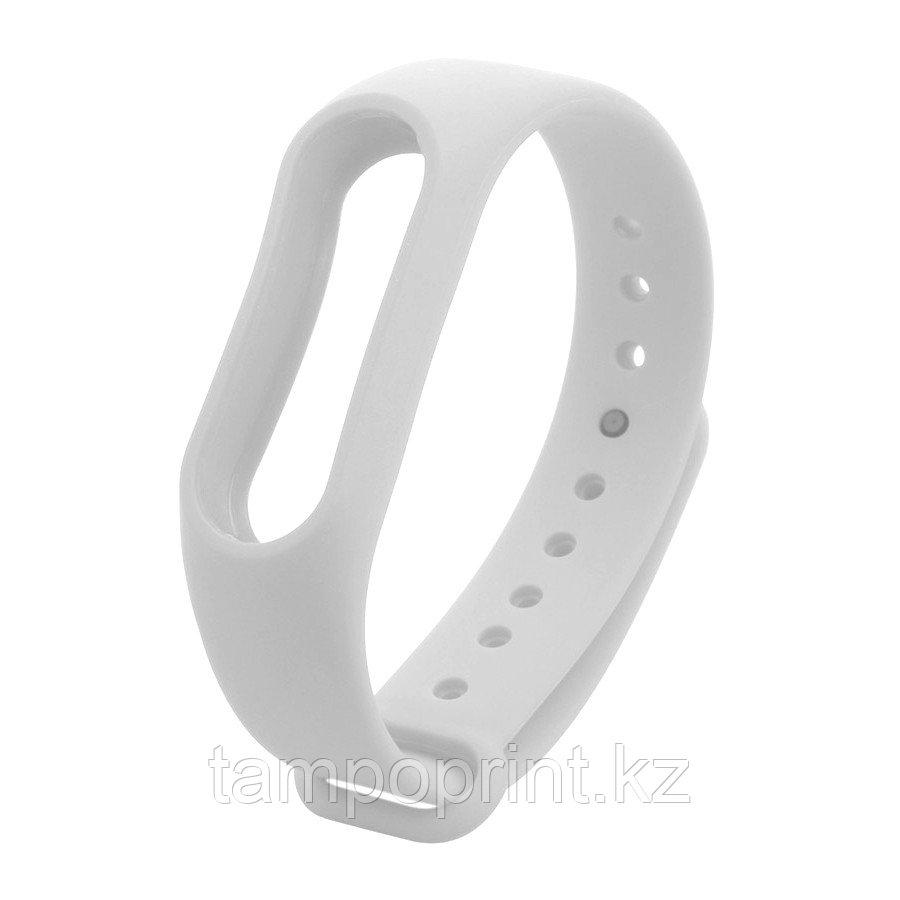Ремешок силиконовый для фитнес-браслета Xiaomi MI Band 2 белый