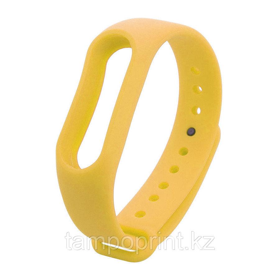Ремешок силиконовый для фитнес-браслета Xiaomi MI Band 2 желтый