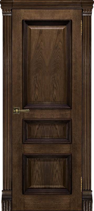 Межкомнатная шпонированная дверь Тоскана бренди ДО и ДГ