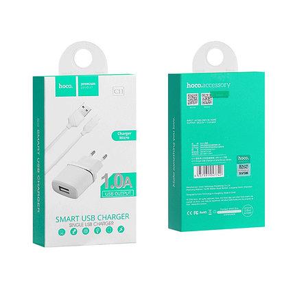 Зарядное устройство Hoco C11 1A Micro USB, фото 2