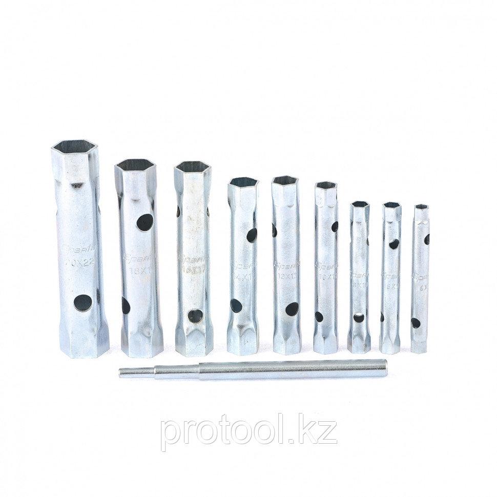 Набор ключей-трубок торцевых, 6 х 22 мм, вороток, оцинкованные, 10 шт.// SPARTA - фото 3