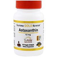 Now Foods, Астаксантин, 12 мг, 30 капсул в растительной оболочке, фото 1