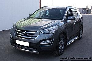 Защита передняя D 60,3 Hyundai Santa FE 2012-2015.