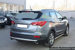 Защита задняя D 60,3 Hyundai Santa FE 2012-2015.