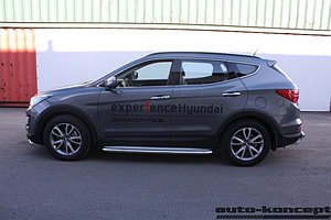 Пороги с площадкой D 60,3 Hyundai Santa FE 2012-2015.