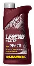 Моторное масло MANNOL Legend+Ester 0w40 1 литр