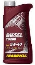 Моторное масло MANNOL Diesel Turbo 5w40 1 литр