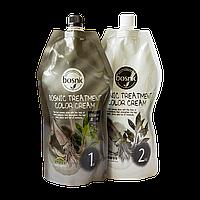 Bosnic Краска для волос (Черный) Treatment Color Cream Black / 500 мл.