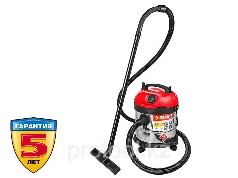 Пылесос строительный, ЗУБР ПУ-20-1400 М3, модель М3-20, 20 л, 1400 Вт, сухая и влажная уборка
