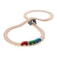 Железная дорога ЛИЛЛАБУ набор 20 предм разноцветный ИКЕА, IKEA, фото 1