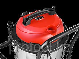 Пылесос строительный, ЗУБР ПУ-60-1400 М4, модель М4-60, 60 л, 1400 Вт, сухая и влажная уборка, фото 2