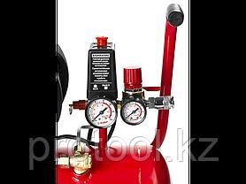 Компрессор воздушный, ЗУБР ЗКПМ-220-24-1.5, поршневой, масляный, 220 л/мин, 24 л, 8 Атм, 1500 Вт, 220 В, фото 3