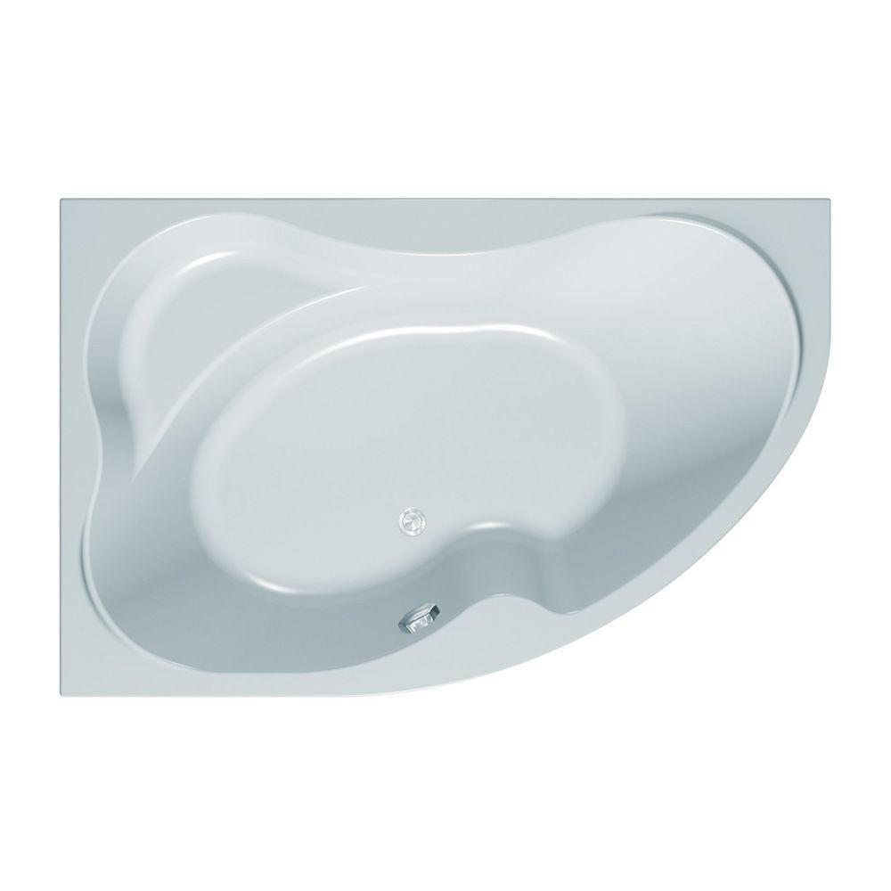 Ванна акриловая ассиметричная правая Kolpa San LULU 170x110-D каркас, сифон