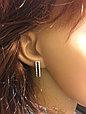 Серебряные серьги с фианитами , фото 2