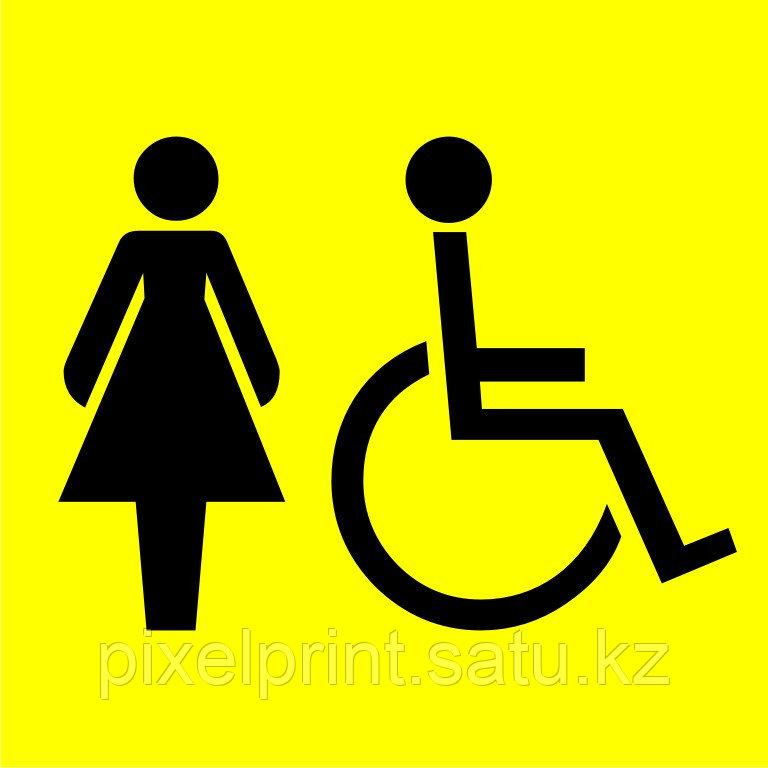 """Табличка """"Туалет для инвалидов"""" 20*20 см"""