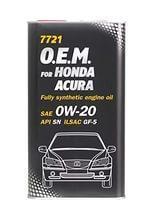 Моторное масло MANNOL O.E.M. for Honda Acura 0w20 1 литр