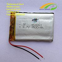 Аккумулятор 1500 мАч 454261 3,7v для модемов, MP3 плееров, GPS навигаторов, электронных книг 4,5х42х61 мм